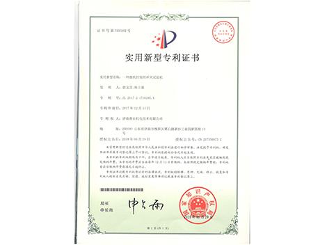 杯突专利证书